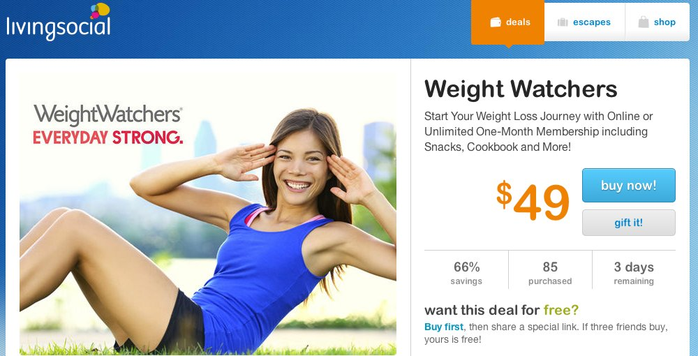 Stock Photo Used to Advertise Weight Loss Program