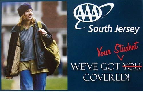 Stock Photo Featuring College Student in an Insurance Ad