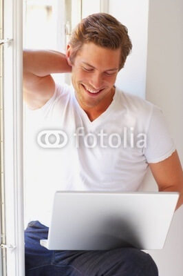 Male Model Stock Photo Featuring Smiling Handsome Man
