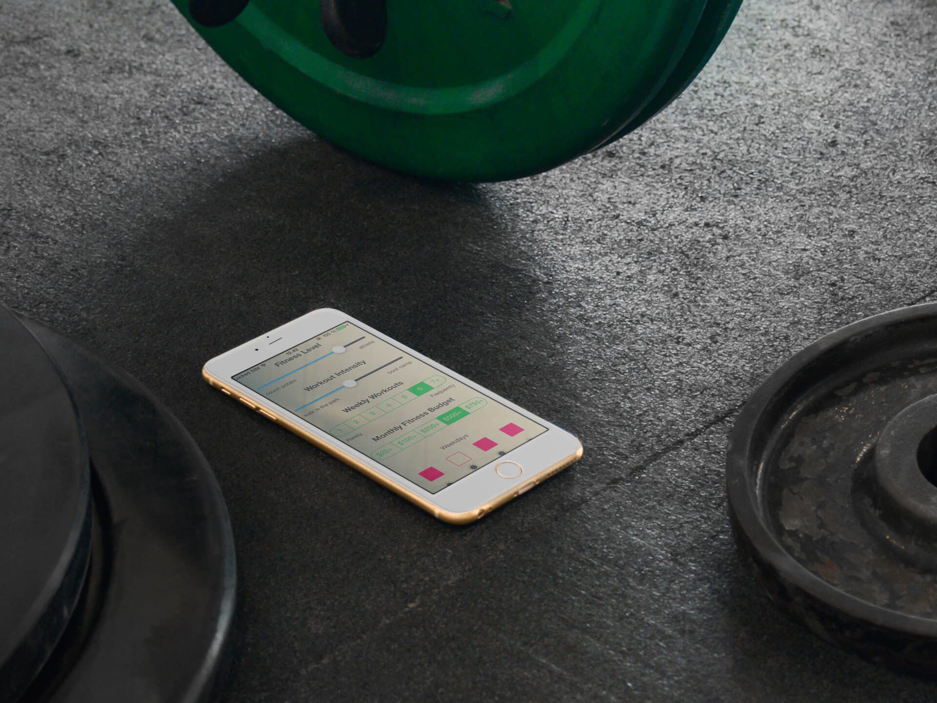 Digital Device Mockups for Fitness Apps' Visuals