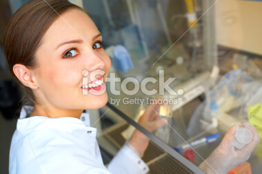 stock photo of a scientist working