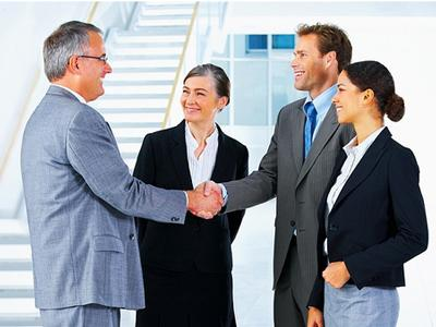 Stock Photo Featuring a Group of Business People Meeting