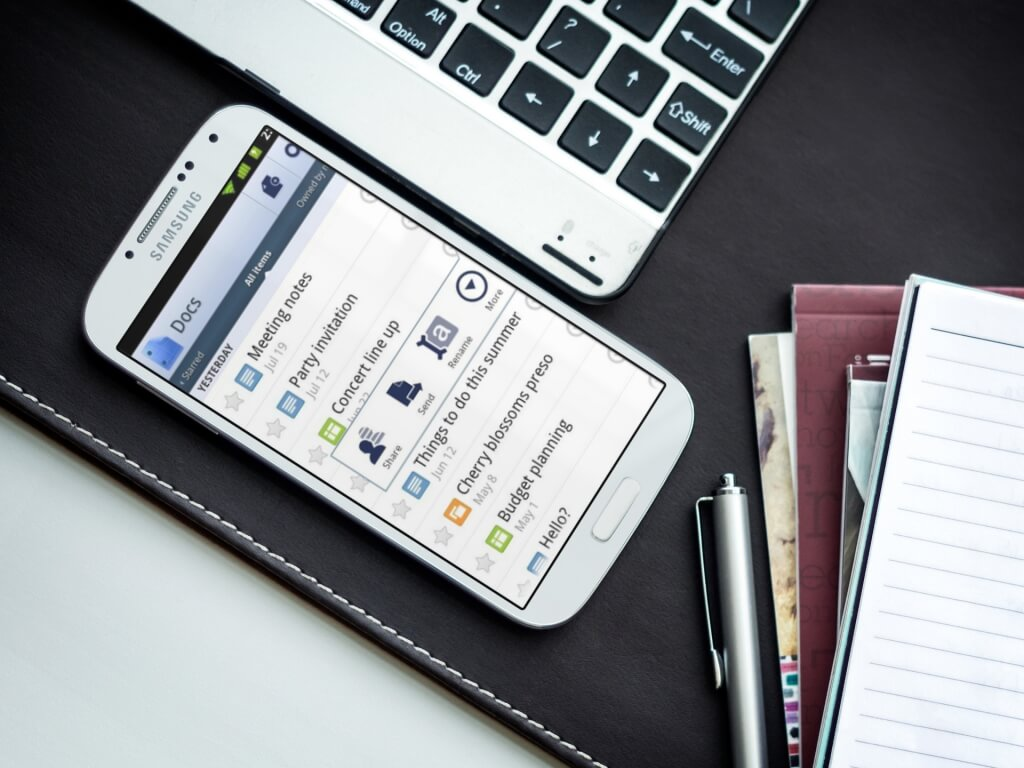 Samsung Galaxy Mockups for Android Productivity Apps