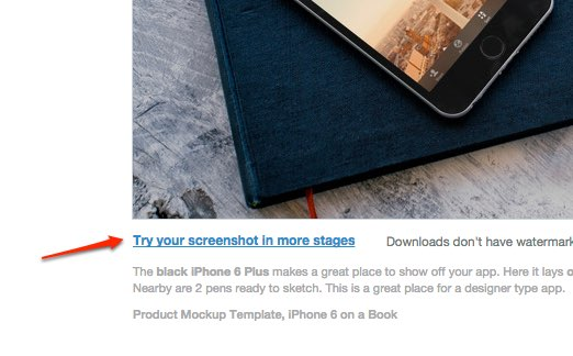 Product Mockup Template, iPhone 6 on a Book