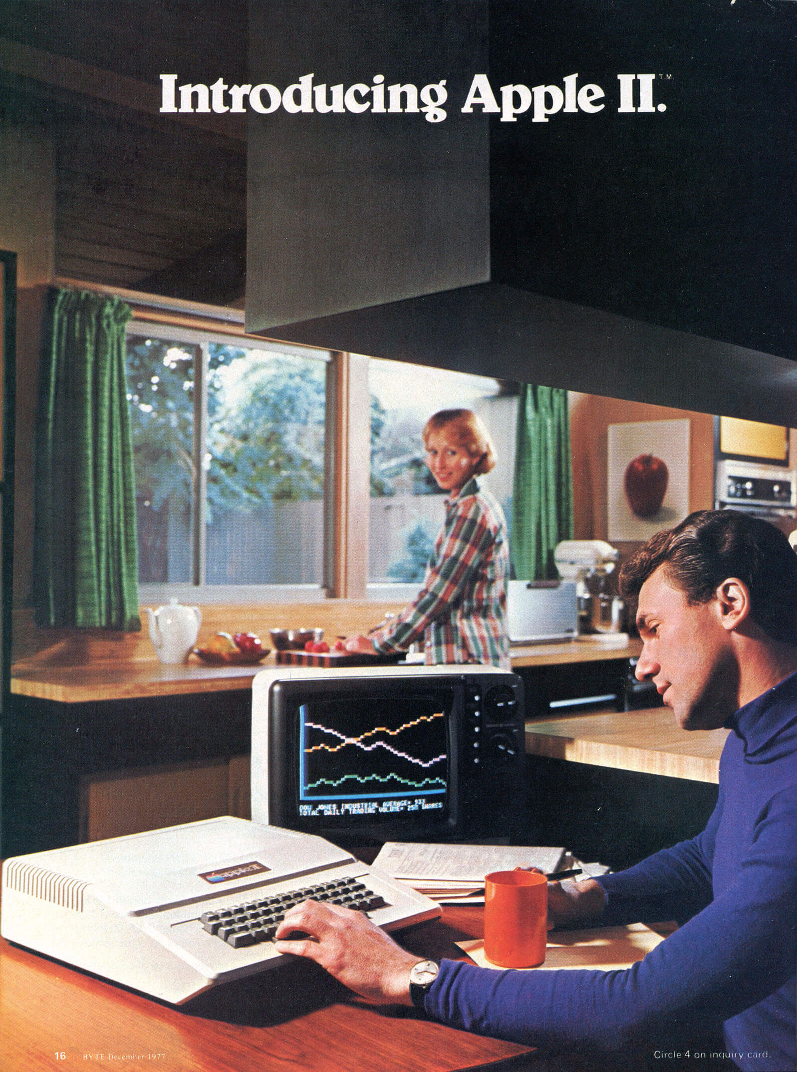 An Apple II advertisement