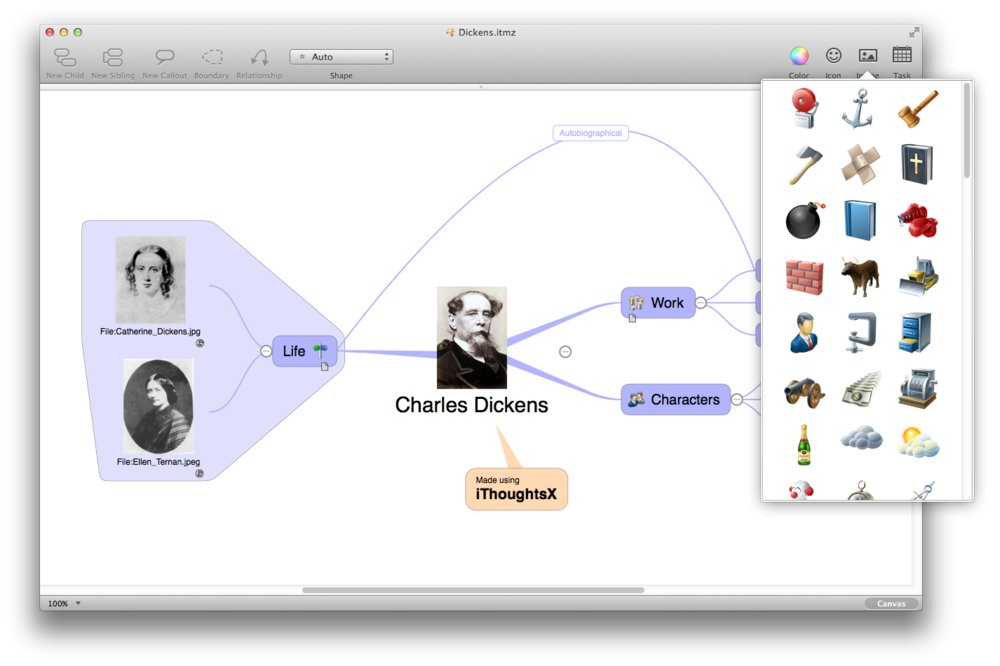 iThoughts mind map App