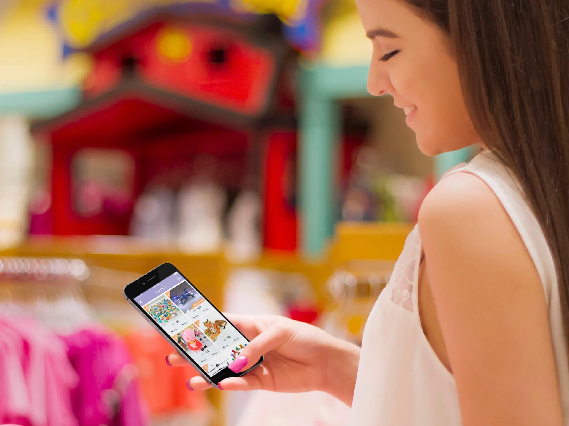 Smartphone Mockups for Shopping Apps