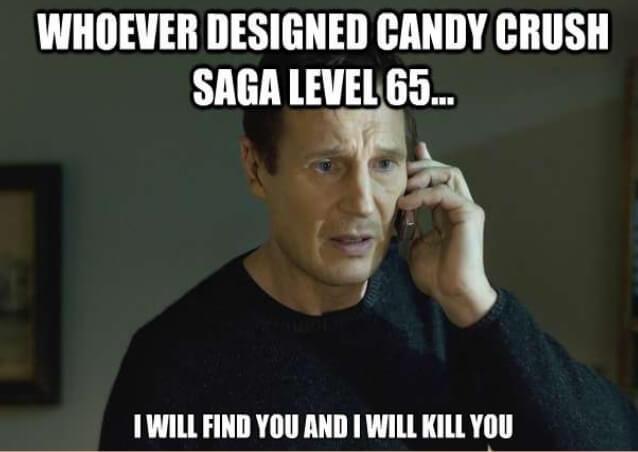 Liam Neeson Candy Crush Meme