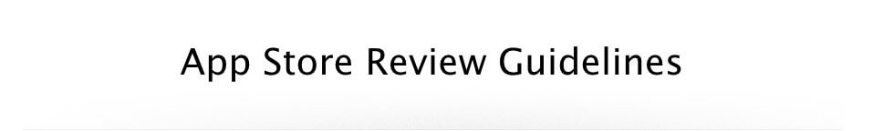 App Store Review Guidelines Screenshot