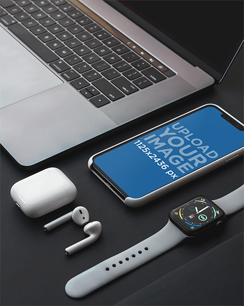 Mockup Featuring An Iphone 11 Pro Among Other Gadgets