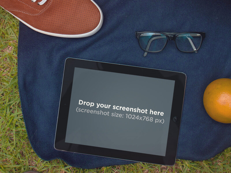iPad Mockup Template at the Park