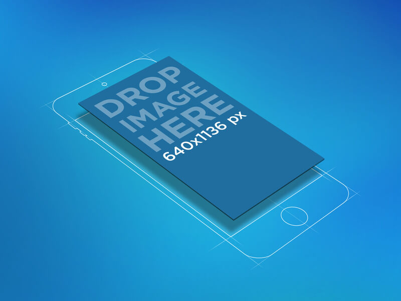 Vectorized iPhone Mockup