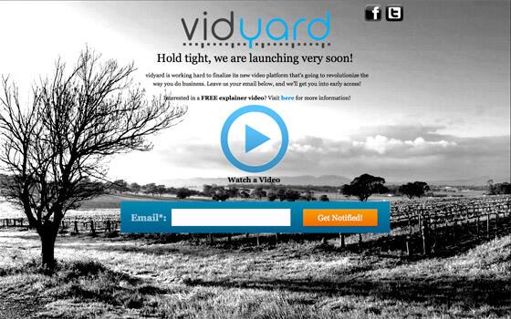 vidyard coming soon-landing-page