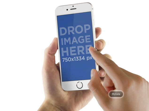 Transparent PNG Mockup of an iPhone 6 Held in Hands