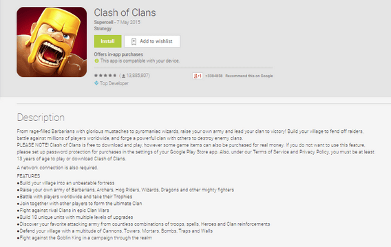 Clash of Clans Description Screenshot