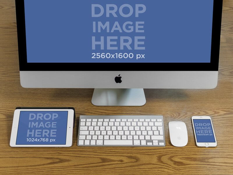 iPhone and Macbook Mockups For Mobile Responsive Websites