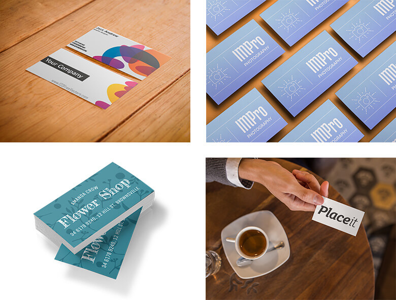 Online business card mockup generator tool placeit blog business card mockup samples reheart