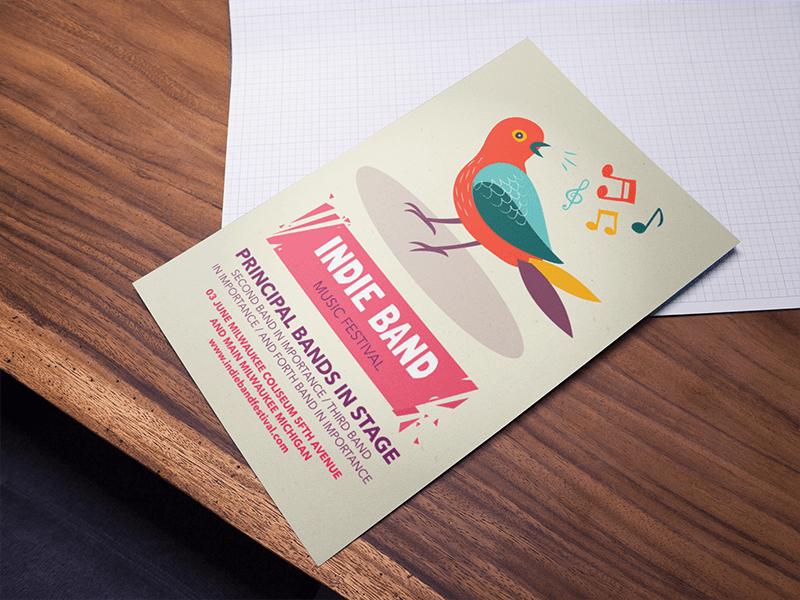 Bird Poster Mockup