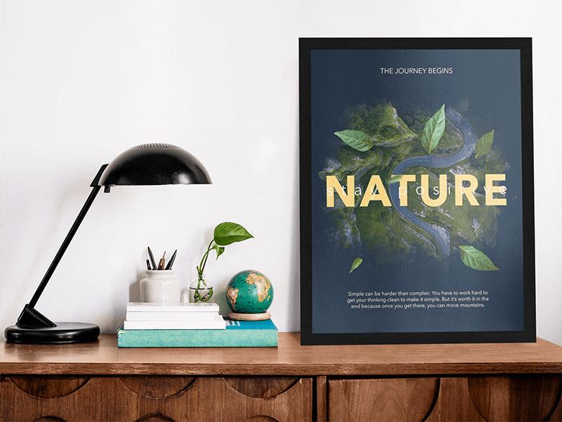 poster mockup nature