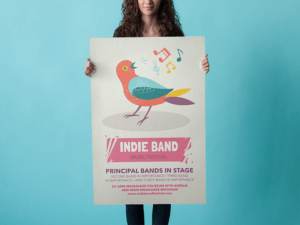 Poster Mockup With A Girl