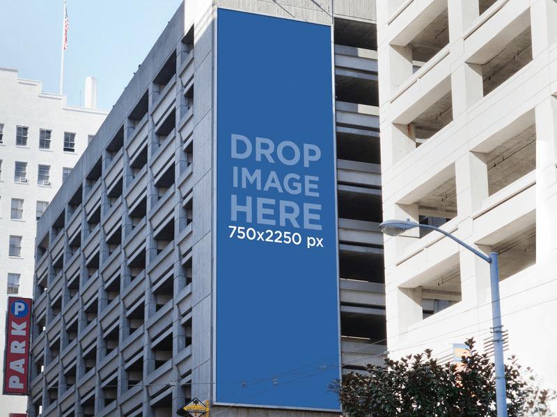 billboard on side building