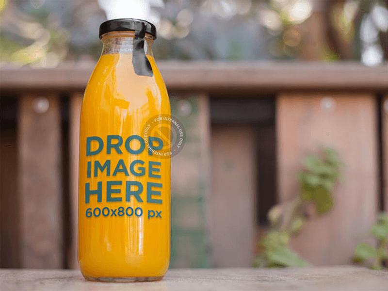juice glass bottle mockup