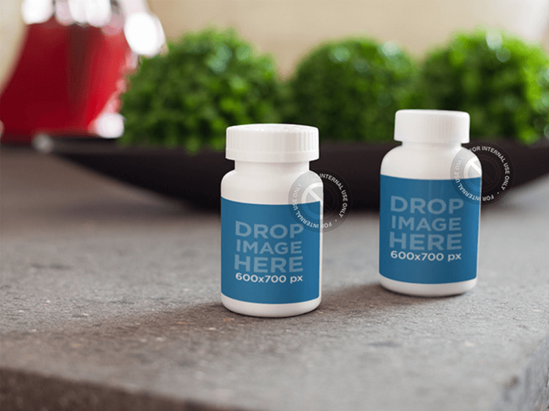 pills label mockup