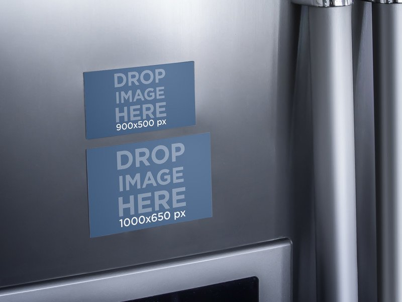 REFRIGERATOR MAGNETS MOCKUP OF TWO IMAGES
