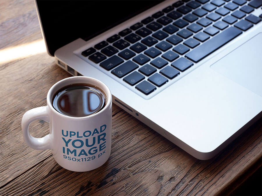 Mug Mockup With Mac