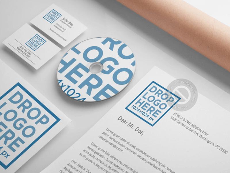 branding material mockups