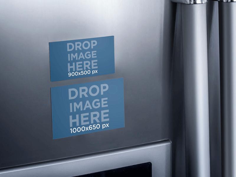 fridge magnet mockup
