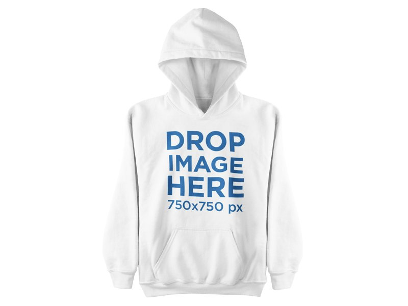 Hoodie Hanging Over a Flat Backdrop Clothing Mockup