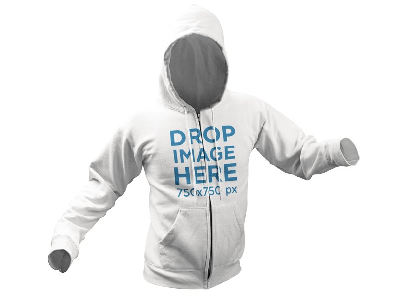 Hoodie Invisible Model Mockup Over a PNG Background