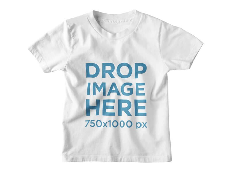Kids Round Neck T-Shirt Clothing Mockup