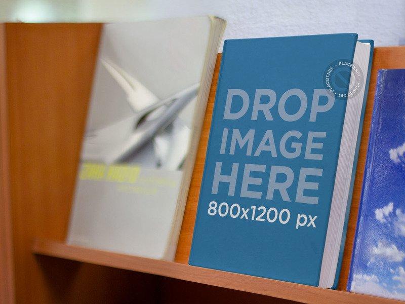 ebook mockup shelf bookstore