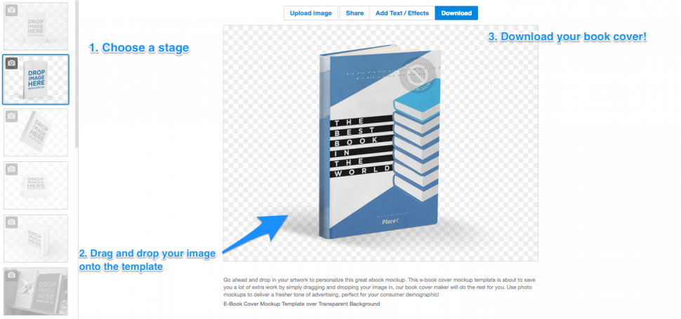 Book Cover Template Generator : How to use a d book cover generator for your e marketing