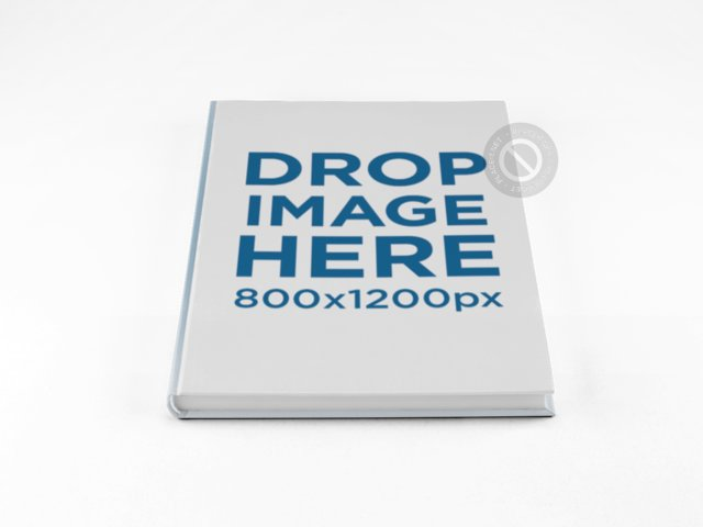 Hardcover Book PNG Mockup on a Surface