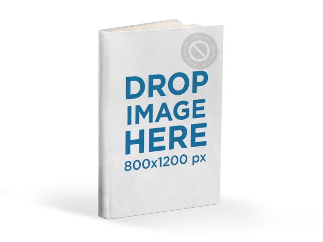 E-Book Cover Mockup Template over Transparent Background