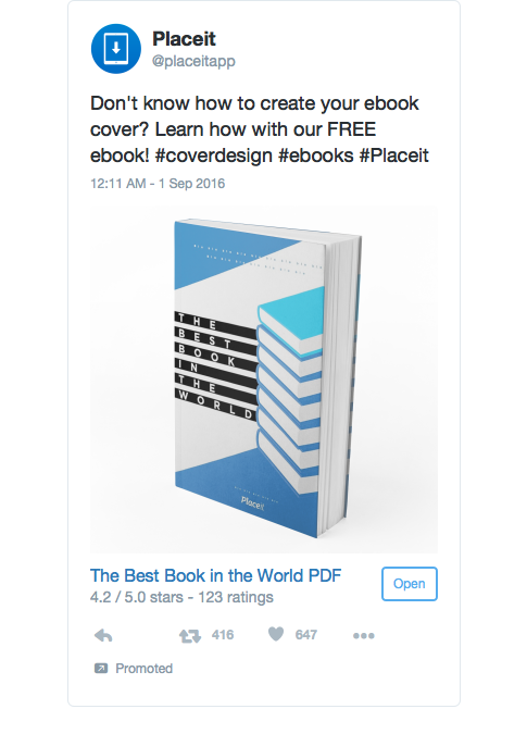 twitter placeit book