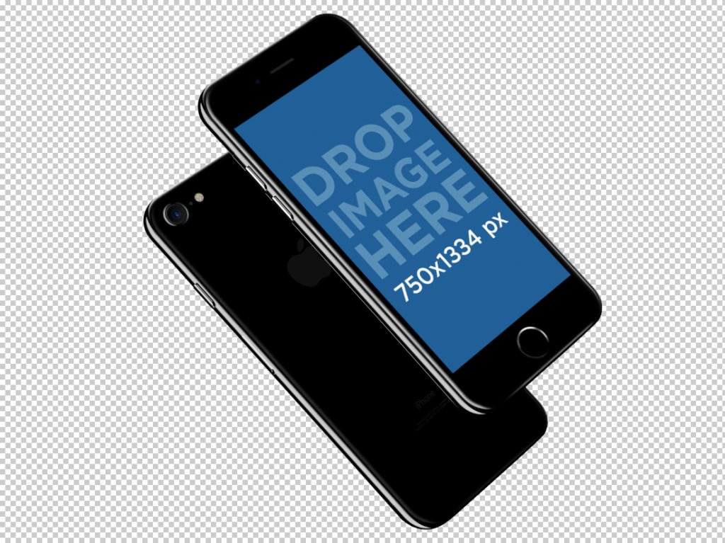 transparent iPhone 7 mockup