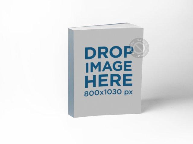 Book Mockup in Vertical Position Over a Transparent Background