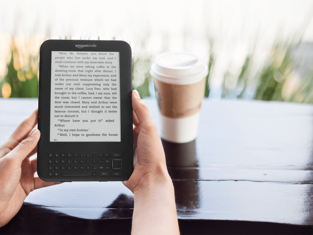 Kindle Mockup Made with Placeit