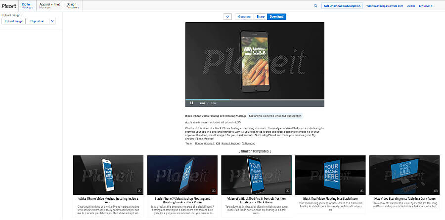 Placeit Mobile App Video Preview Maker