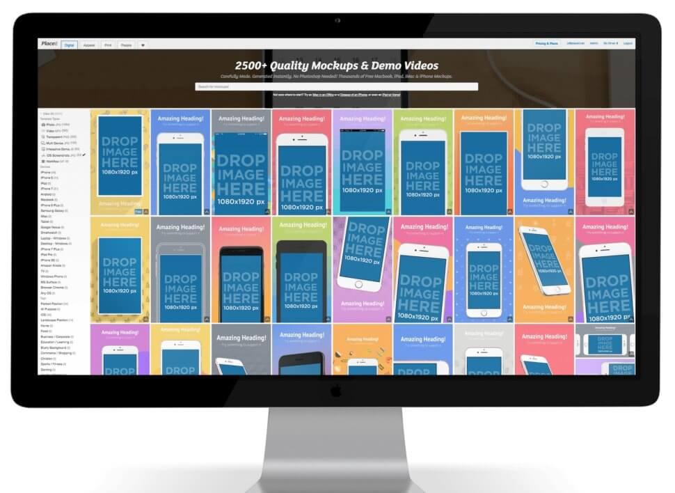 ios app screenshot generator placeit
