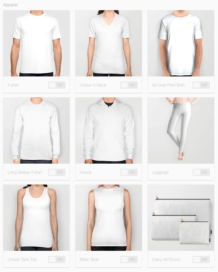 Society 6 Uploading Interface API Example