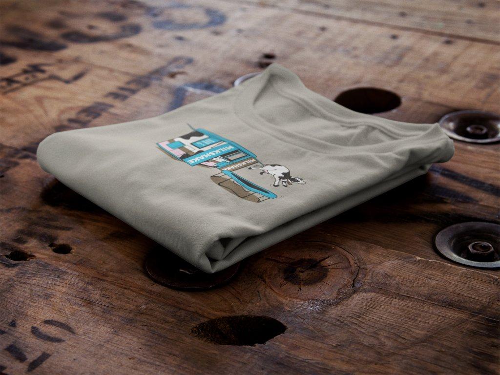 """Fresh Milkshake"" Design on a Folded Tshirt (Mockup Made With Placeit)"