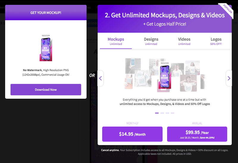 Placeit Pricing