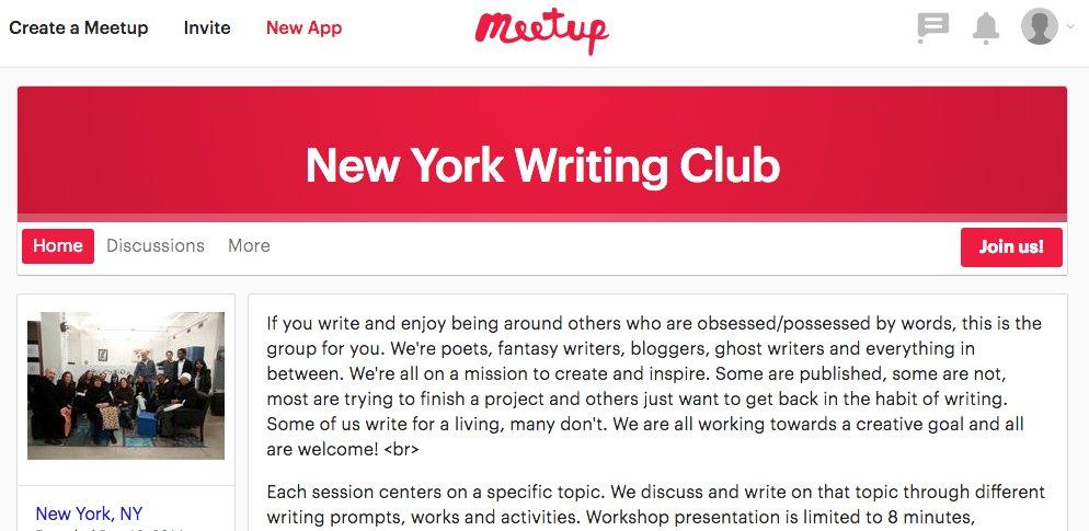 meetup group screenshot