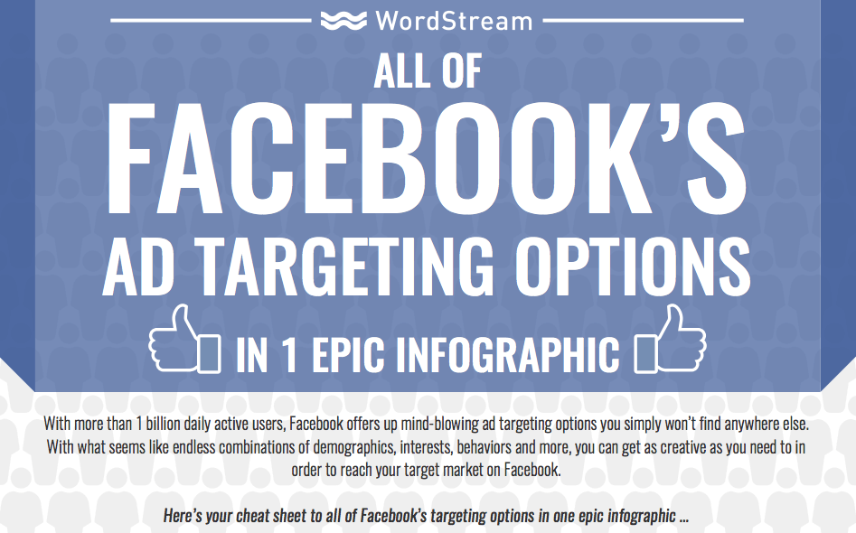 facebook ad targeting options inforgraphic
