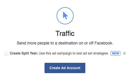 Create a Facebook Ad for more Traffic